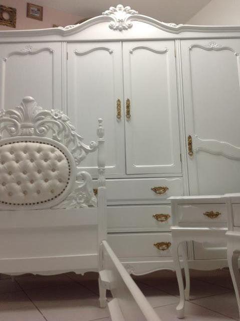 Ateliando  Customização de móveis antigos Quarto Customizado da Alessandra  -> Decoracao De Banheiros Com Moveis Antigos