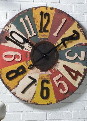 Antiqued License Plates Clock.