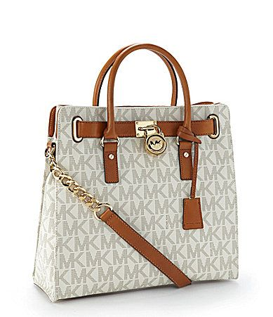 MICHAEL Michael Kors Hamilton Signature Tote Bag #Dillards | The Style of Handbags | Pinterest | Macbook, Muscle and Bags