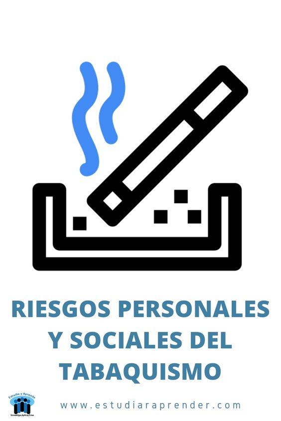 riesgos personales y sociales del tabaquismo