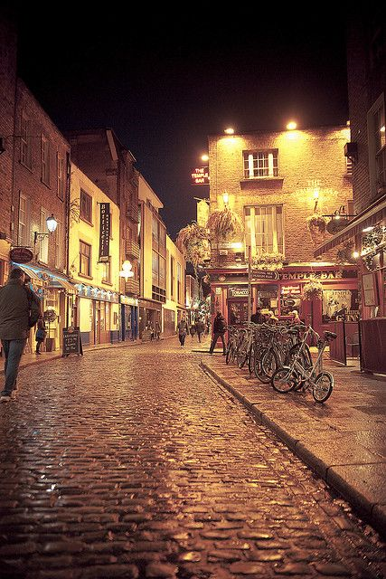 Temple Bar, Dublin. A little further down on the left is an amazing restaurant called Elephant and Castle. If you ever get a chance to visit get their wings!