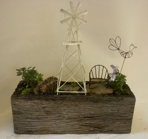 This one could be from Kansas...or down on the farm...in a barn wood container...
