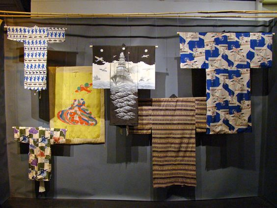 Kimonos displayed at the Arts of Asia Show in San Francisco.