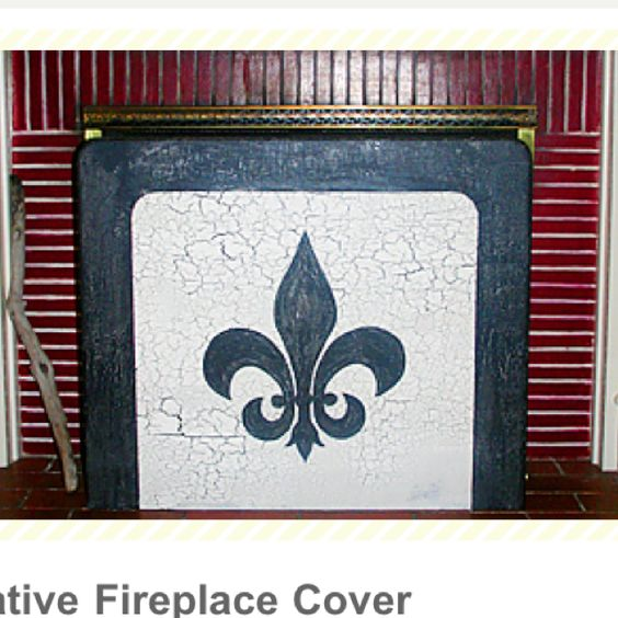 Fireplace cover decorative fireplace and fireplaces on Decorative fireplace covers