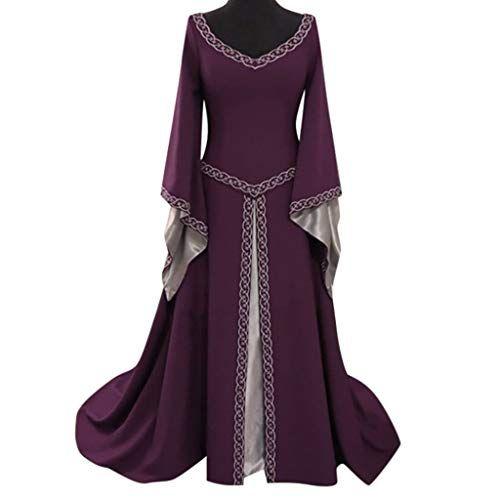 Femmes Médiéval Renaissance Robe Verte Corset Celtique Reine Robe Cosplay Costume