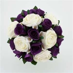 Wedding Bouquet Purple Silver   Wedding Flowers @Kaitlyn Marie Marie Marie Diehl Miller