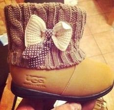 #baby uggs  #bow