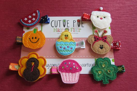 Holiday Assortment Pack by CutiePieHairFlair on Etsy, $24.00