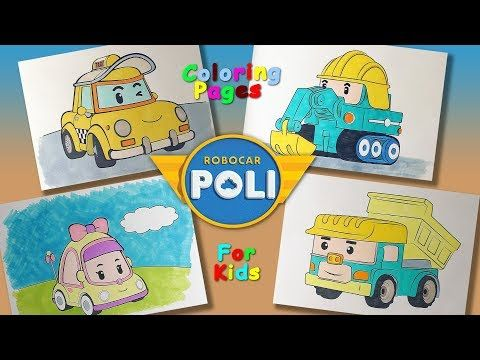 Poli Robocar Characters Part 3 Coloring Pages Forkids Learncolors And Draw With Robocarpoli Youtube Coloring Pages Robocar Poli Character
