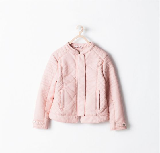 Pink Leather Jacket Kids - Pl Jackets