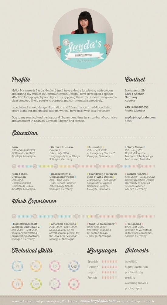 Kreativer Lebenslauf, weitere inspirierende Beispiele findet ihr hier http://www.suedkurier.de/jobs-im-suedwesten/bewerbungstipps/kreative-bewerbung/