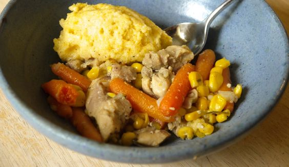 BOOKS and BAIRNS: Chicken stew and cornmeal dumplings {everyone at the table}