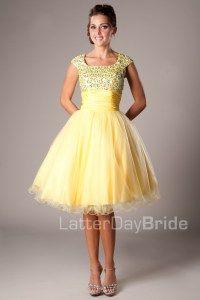 Modest Prom Dresses : Avalynn -Mormon LDS Prom Dress