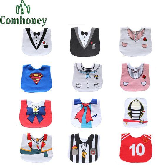 Bébé bavoirs vêtements salive serviette bande dessinée Superman japon Anime enfants imperméables bavoirs pour les nouveau-nés infantile enfants Burp tablier(China (Mainland))