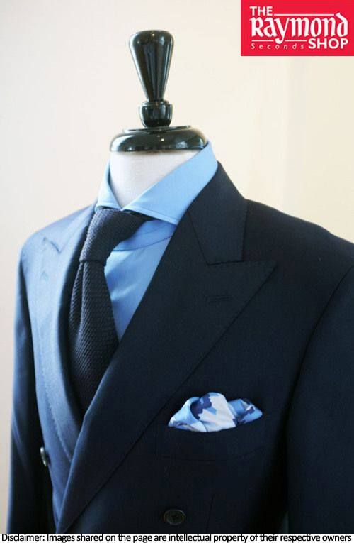 Don this royal blue bespoke suit by The Raymond Seconds Shop