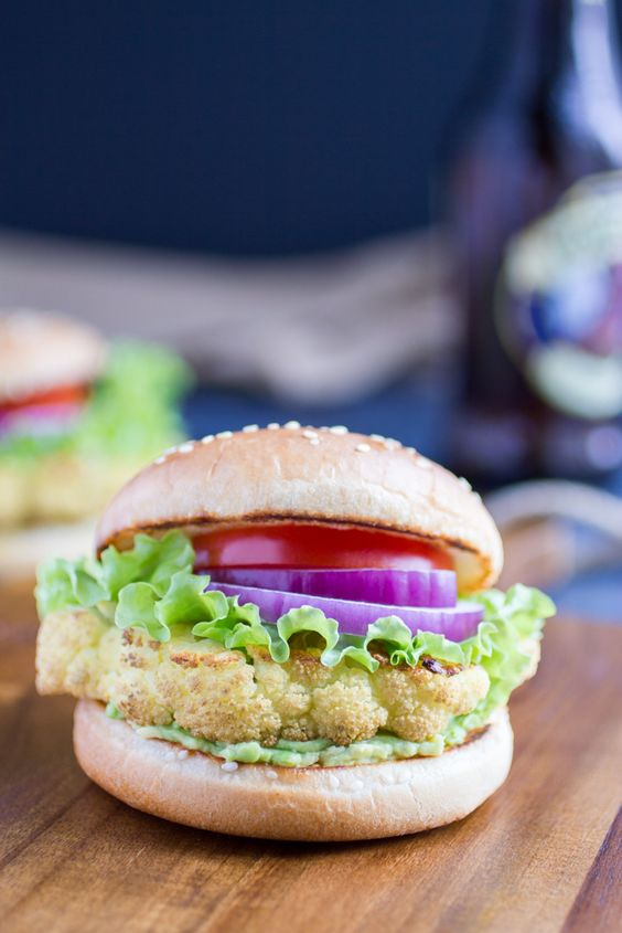 Cauliflower Steak Burger