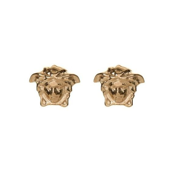 VERSACE Medusa stud earrings ($102) ❤ liked on Polyvore