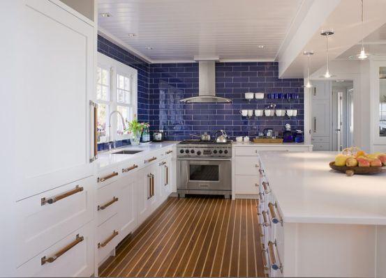 Cobalt Blue Backsplash Kitchen Blue Backsplash Kitchen Kitchen