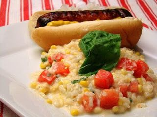 Tomato basil corn risotto | Yum | Pinterest | Risotto, Basil and ...