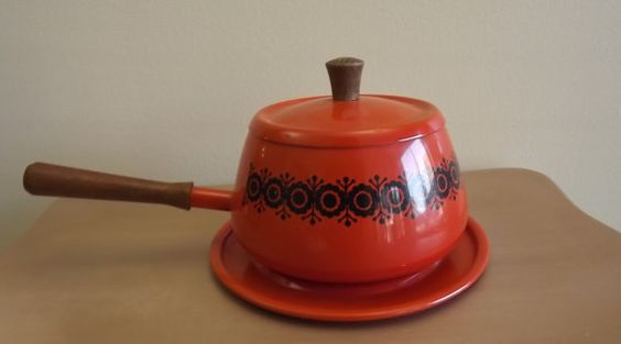 Vintage Mad Men Fondue Pot by UniquelyAttainable on Etsy, $19.72