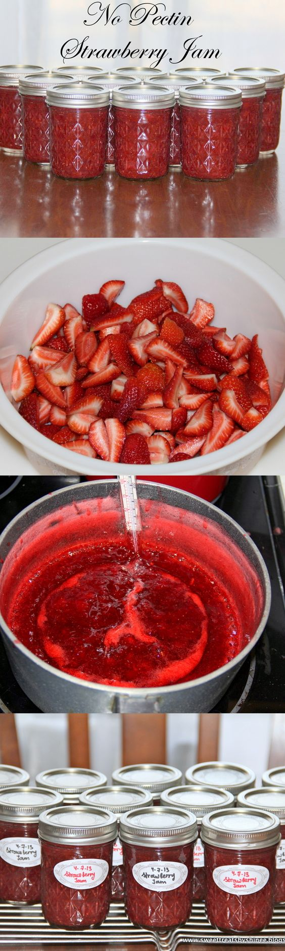 Easy strawberry jam no pectin recipe strawberry jam for Pectine cuisine