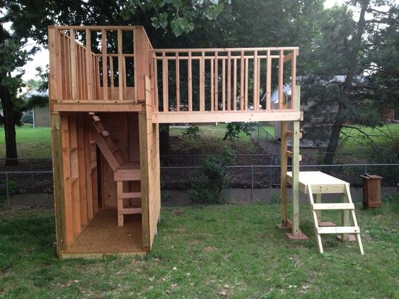 Backyard Fort - plain & simple, but I like the different ...