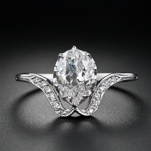 Antique Pear Shaped Diamond Ring $5,750.00