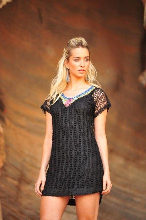 Muito amor por esse dress bordado!!! #dress #vestidos #vestido #black #bordado #fashion #moda #mulher