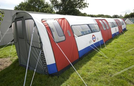 London Underground tent - now that'd make me want to go camping! :-)