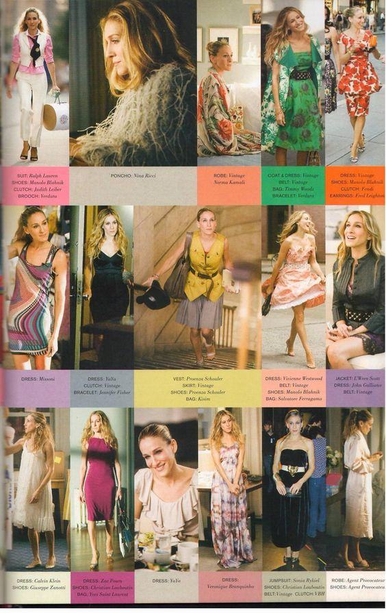 Carrie Bradshaw <3 and the fabulous pieces she gets to wear!