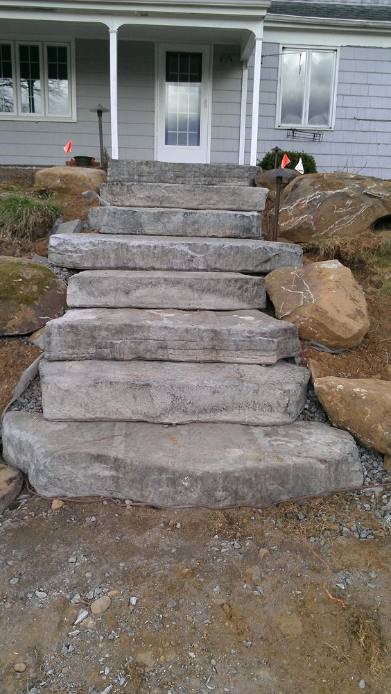 how to build steps with stones in landscape