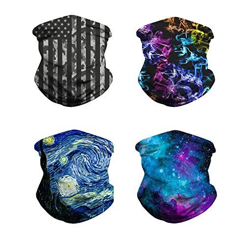 Headwear Bandana for Rave Face Mask Dust Wind,Neck Gaiter,Tube Mask,Face Scarf