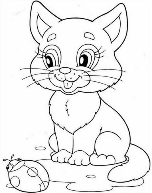 On The Following Page You Will Find Great Animals Coloring Pages For Children They Can Animals C Cat Coloring Page Animal Coloring Pages Kitty Coloring