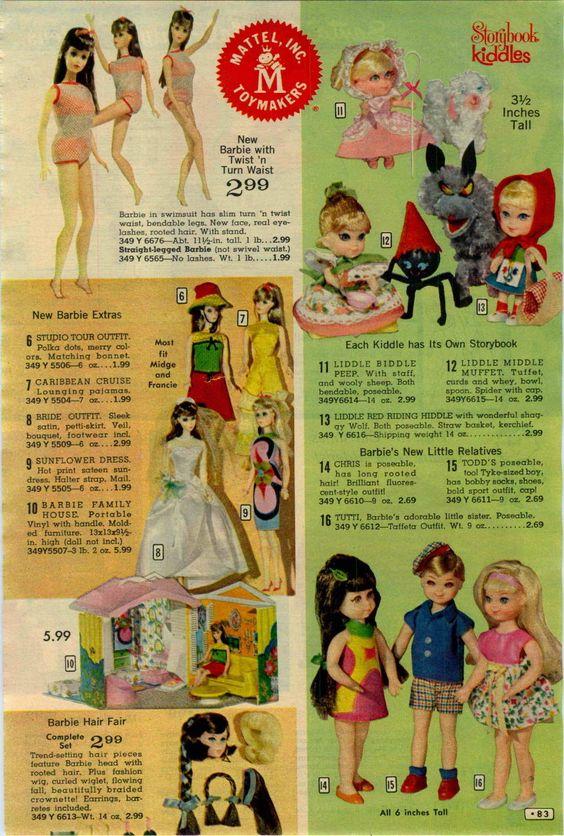 1967 Advertisement Mattel Barbie Doll Twist N Turn Waist Family House Hair Fair | eBay