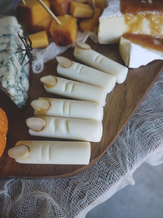 cheese fingers for halloween