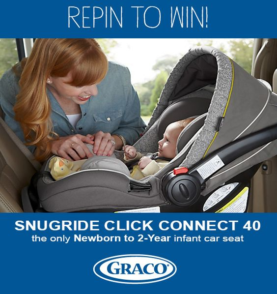 Follow us on Pinterest and repin this image using the hashtags #Graco and #InfantCarSeat for a chance to win a Snugride Click Connect™ 40