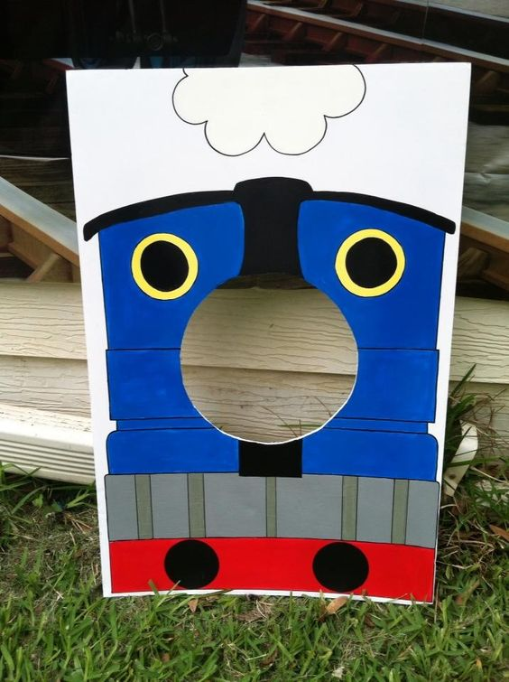 "My ""Thomas the Train"" photo prop"