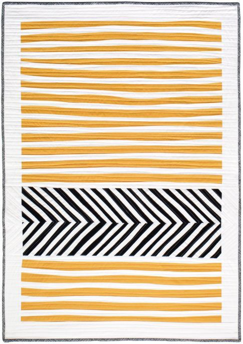 Stripes and Herringbone by Sarah Thomas of Bluprint Textiles  A Free Pattern from Robert Kaufman Fabric Company: