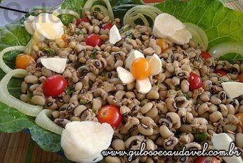 Guloso e Saudável -Salada de feijão fradinho