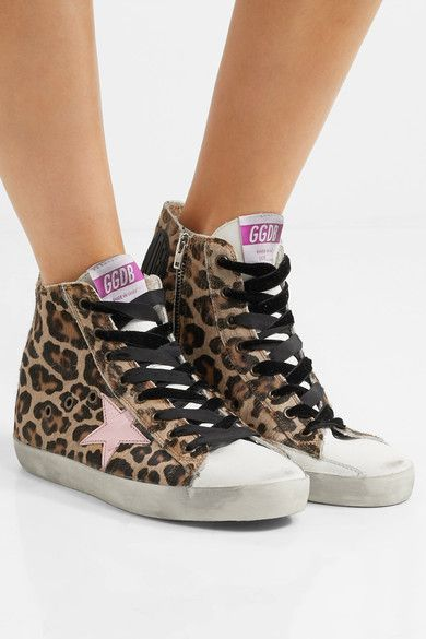 Francy high-top leopard-print trainers Golden Goose 0WheLME