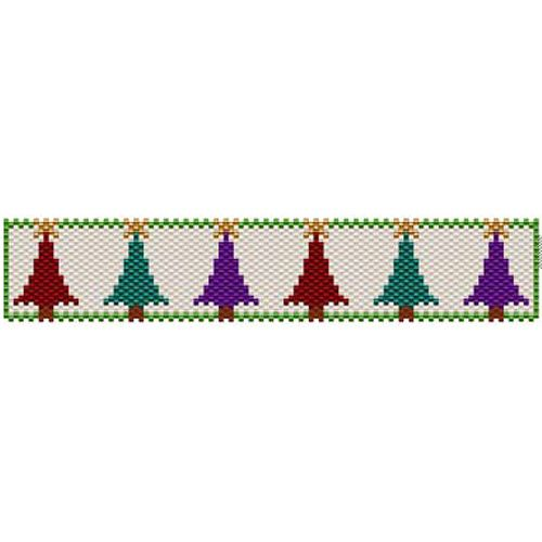 Christmas Tree Beaded Bracelet Pattern | Bead-Patterns.com