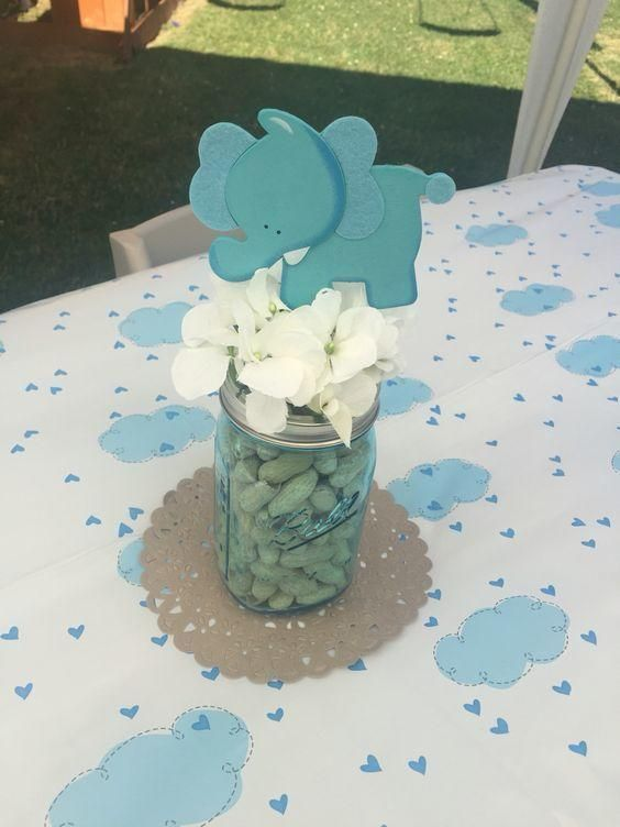 40 Diy Baby Shower Centerpieces That Are Cheap To Make Boy Baby Shower Centerpieces Elephant Baby Shower Decorations Peanut Baby Shower