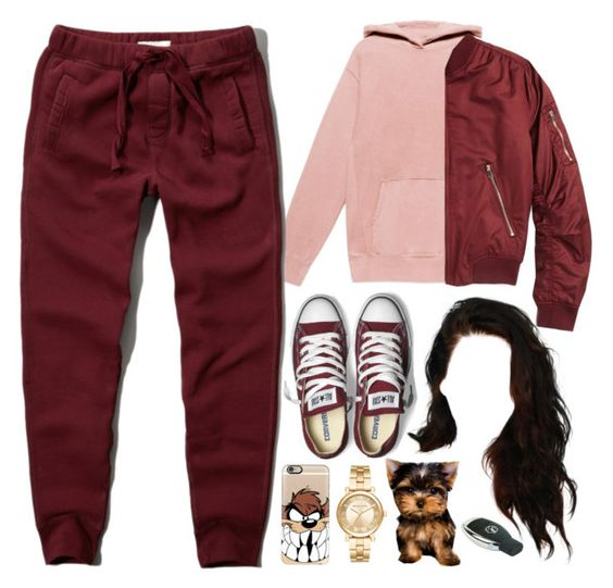 20 November, 2016 by jamilah-rochon on Polyvore featuring Topshop, Abercrombie & Fitch, Michael Kors, Casetify and Converse