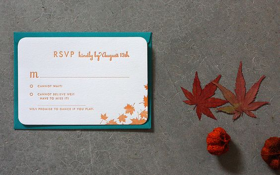 Rustic Maple letterpress wedding reply and envelope | Flickr - Photo Sharing!