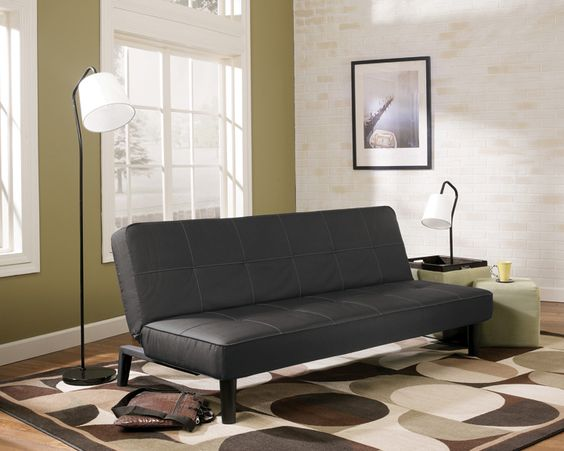 Futon Decor. Futon Decor Modern Black Sofa From Kimbrell39s Furniture Home  Livingroom