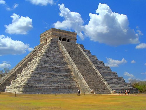 Chichen Itza, Mexico  ~ Climbed to the top on tiny narrow steep steps, harder coming down.  You could see for miles over the jungle canopy.  Breathtaking!