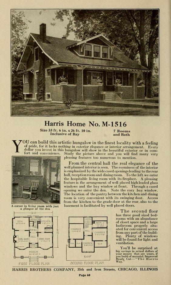 Plan book of Harris homes : book number seventy...