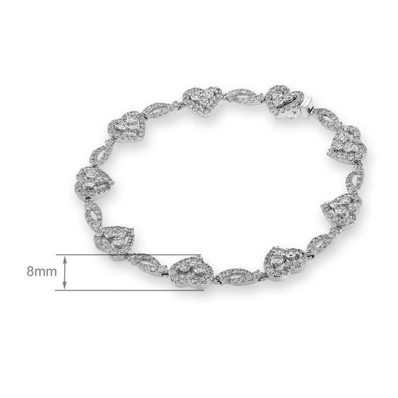 'Enchanted' Diamond Heart Bracelet- $5,906.00 www.theroyaldepartment.com
