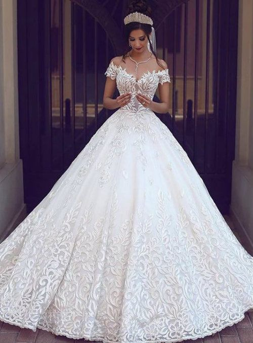 Amazing Pretty Ball Gowns Wedding Dresses Off The Shoulder Lace Bridal Dresses Charming Cheap Bridal Dresses A Line Wedding Dress Ball Gowns Wedding
