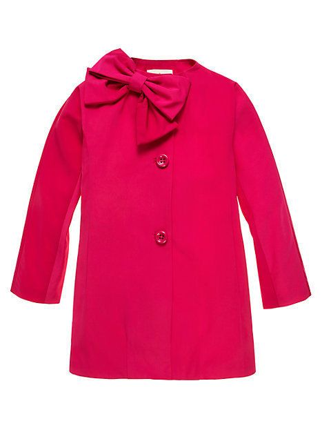 Details about Kate Spade Girls Dorothy Jacket Coat Pink with Bow